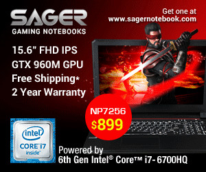 Sager Gaming Notebooks