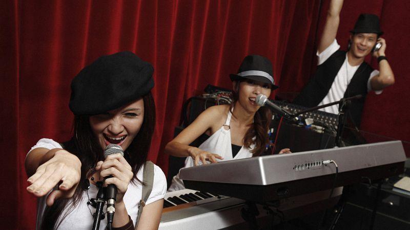 Jamming in the studio