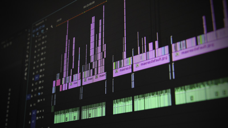 music editing on a computer screen